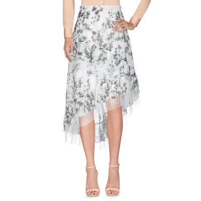 ブルマリン BLUMARINE ひざ丈スカート ホワイト 44 コットン 100% / ナイロン ひざ丈スカート