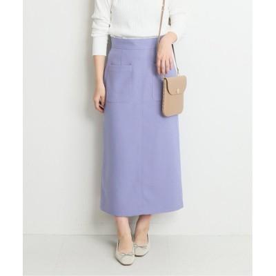 【イエナ】 ツイルサイドポケット タイトスカート◆ レディース パープルB 36 IENA