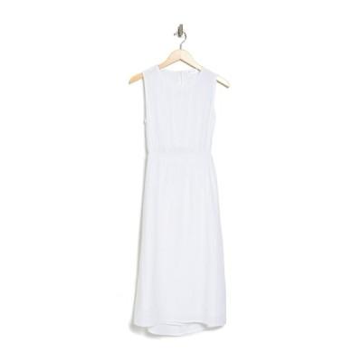 アールディスタイル レディース ワンピース トップス Gauze Back Cutout Midi Dress WHITE