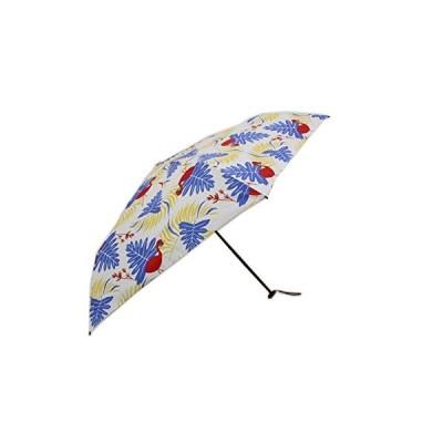 mabu(マブ) レディース 晴雨兼用 グラスファイバー仕様 軽量(デザイン) 55cm 折りたたみ傘 (サファリ ブルー)