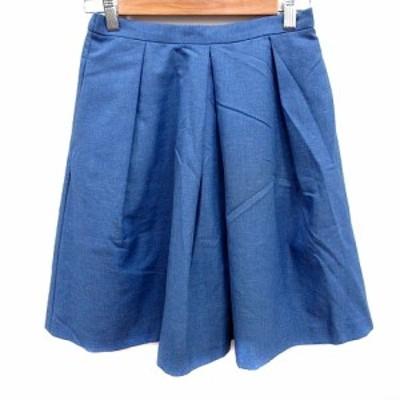 【中古】アーバンリサーチ URBAN RESEARCH スカート フレア ひざ丈 F 青 ブルー /RT レディース