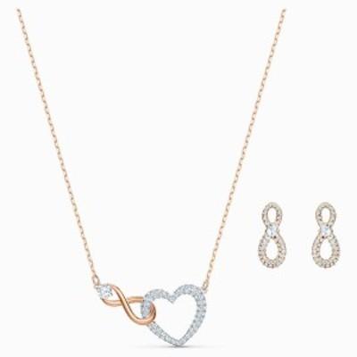 スワロフスキー Swarovski Swarovski Infinity Heart セット ネックレス ピアス 5521040