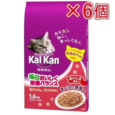 マースジャパン カルカン ドライ まぐろと野菜味 1.6kg(×6個セット販売)