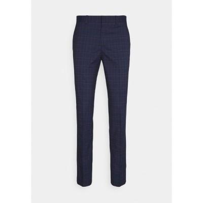 セレクテッドオム カジュアルパンツ メンズ ボトムス SLHSLIM KYLE LOGAN  - Trousers - navy blue/light blue