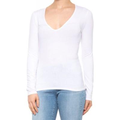 ジェイ ブランド J Brand レディース 長袖Tシャツ トップス runway t-shirt - long sleeve White