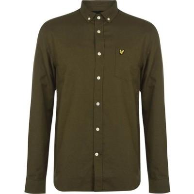 ライル アンド スコット Lyle and Scott メンズ シャツ ワイシャツ トップス Oxford Shirt Trek Green W