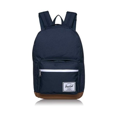 Herschel Pop Quiz Backpack, Peacoat/Saddle Brown, Classic 22L 並行輸入品