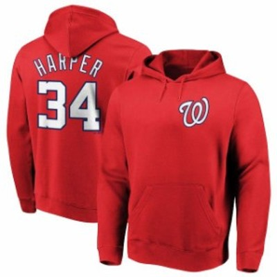 Majestic マジェスティック スポーツ用品  Majestic Bryce Harper Washington Nationals Red Authentic Name & Number Pul