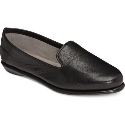 エアロソールズ Aerosoles レディース スリッポン・フラット シューズ・靴 Betunia Smoking Flats Black Leather