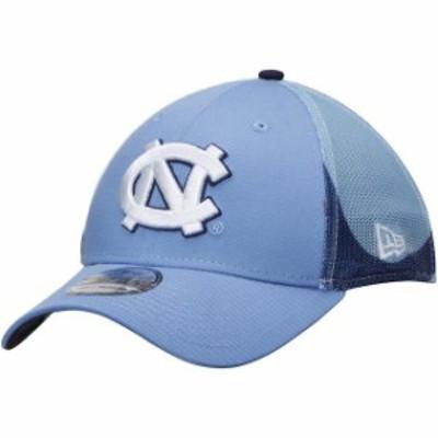New Era ニュー エラ スポーツ用品  New Era North Carolina Tar Heels Carolina Blue NCAA Logo Wrapped 39THIRTY Flex Hat