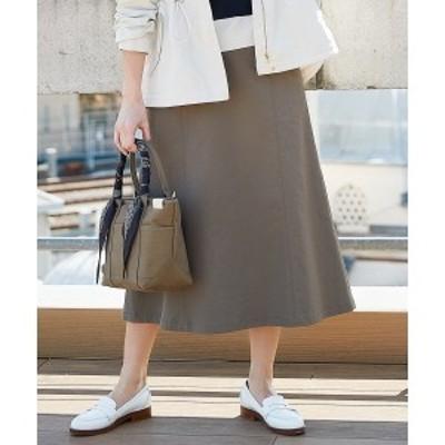 ジェイ・プレス レディース(J.PRESS LADIES)/【透けにくい】洗えるTCリネンツイル スカート