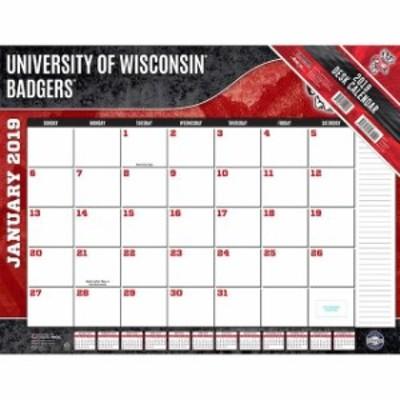John F. Turner ジョン エフ ターナー スポーツ用品  Wisconsin Badgers 2019 22 x 17 Desk Calendar