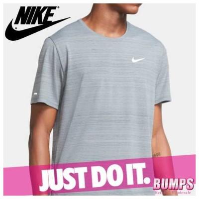 NIKE ナイキ 無地Tシャツ 半袖 丸首 メンズ ドライフィット マイラー ロゴ ワンポイント ランニング トップス 新作