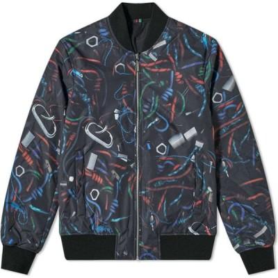 ポールスミス Paul Smith メンズ ブルゾン ミリタリージャケット アウター reversible rope print bomber jacket Black