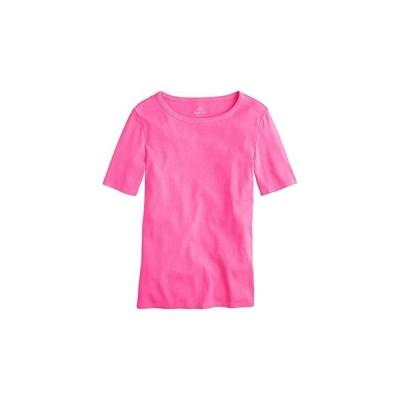 J.Crew Slim Perfect T-Shirt レディース シャツ トップス Neon Flamingo