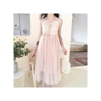 透け感 キャミソール パーティードレス レディース ワンピース お呼ばれドレス kh-0987