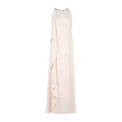 LAUREN RALPH LAUREN ロングワンピース&ドレス アイボリー 4 ポリエステル 100% ロングワンピース&ドレス