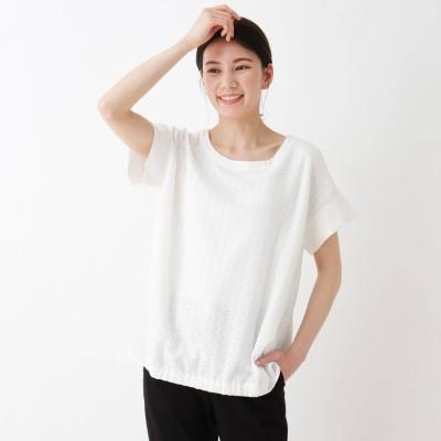 シューラルー SHOO-LA-RUE レース切替トップス (ホワイト)