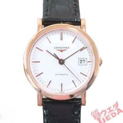 【名古屋】ロンジン エレガントコレクション L4.378.8  750PG/革 白文字盤 自動巻 レディース腕時計 女 新品同様