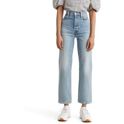 リーバイス レディース デニムパンツ ボトムス Ribcage Straight-Leg Ankle Jeans