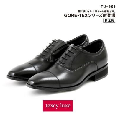 texcy luxe(テクシーリュクス) ビジネスシューズ 革靴 メンズ 本革 防水タイプ ゴアテックス GORE-TEX ストレートチップ TU-902