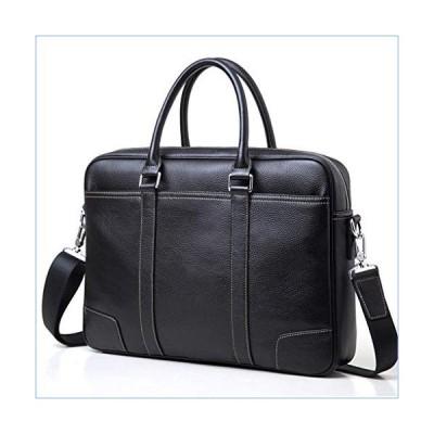 Jeenwicuoy Men Genuine Leather Briefcase Shoulder Bags Laptop Messenger Bag Handbag Yellow lline並行輸入品