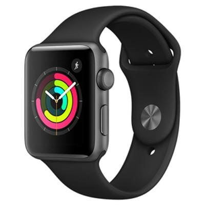 Apple Apple Watch Series 3(GPSモデル)- 42mm スペースグレイアルミニウムケースとブラックスポーツバンド MTF32JA