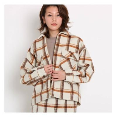 【AG バイアクアガール/AG by aquagirl】 【GISELe12月号/MORE2月号掲載】起毛チェック柄フラップシャツジャケット