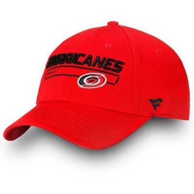 ファナティクス メンズ 帽子 アクセサリー NHL Carolina Hurricanes Team Rinkside Adjustable Hat