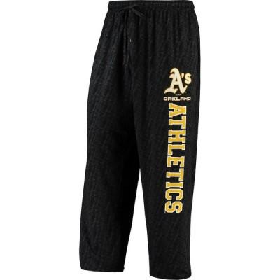オークランド・アスレチックス Concepts Sport Showdown Knit Pants - Black