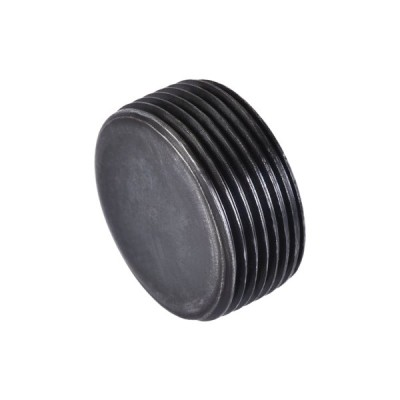 uxcell 内六角ねじソケットパイププラグ M27x1.5オスねじ 炭素鋼 パイプキャップ ガーデンパイプ空気圧ソレノイドバルブ用 ブラック