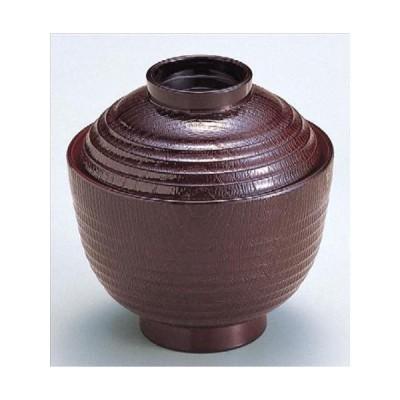 汁椀 3寸荒筋木目椀 溜内朱 食洗器 洗浄機 使用可能 寸法: 9.3φ x 9.8cm 入数: 100個