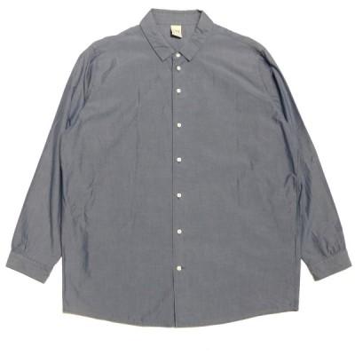 NO CONTROL AIR コットンプレーンシャツ ブルー サイズ:44 (神戸三宮センター街店) 210301