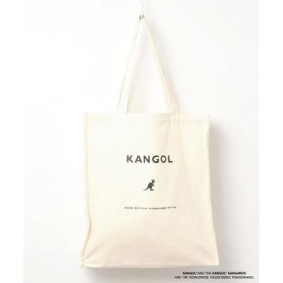 RiNc / 【 KANGOL / カンゴール 】 キャンバス スクエア トート バッグ / 大容量 MEN バッグ > トートバッグ
