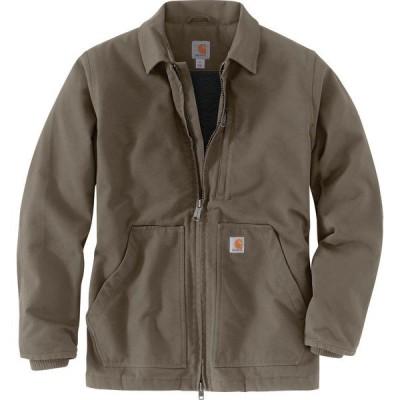カーハート ジャケット&ブルゾン アウター メンズ Carhartt Men's Sherpa-Lined Jacket Charcoal 01