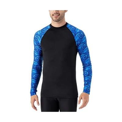 Naviskin メンズ 長袖 ラッシュガード UPF 50+ 日焼け防止 水泳サーフィン ベースレイヤースキン 圧縮シャツ