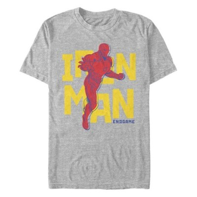 マーベル メンズ Tシャツ トップス Men's Avengers Endgame Iron Man Pop Art Short Sleeve T-shirt