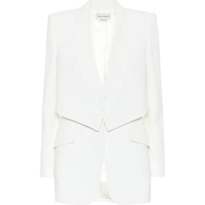 アレキサンダー マックイーン Alexander McQueen レディース スーツ・ジャケット アウター crepe blazer Light Ivory
