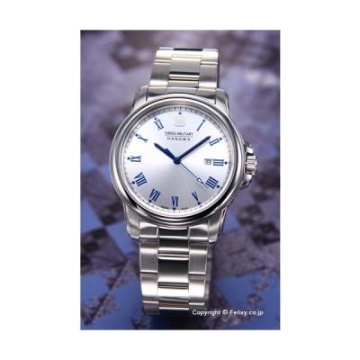 スイスミリタリー 腕時計 メンズ ML-377 (ML377) SWISSMILITARY HANOWA ローマン シルバー