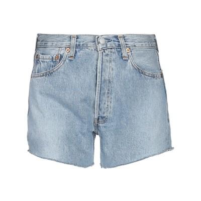 LEVI' S デニムショートパンツ ブルー 29 コットン 100% デニムショートパンツ