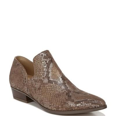 ナチュライザー レディース ブーツ・レインブーツ シューズ Belinda Snake Print Leather Block Heel Shooties