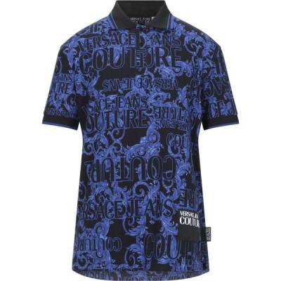 ヴェルサーチ VERSACE JEANS COUTURE メンズ ポロシャツ トップス polo shirt Black