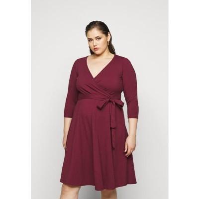 ドロシーパーキンス レディース ファッション WRAP DRESS - Day dress - berry