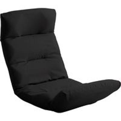 ホームテイストホームテイスト モルン 座椅子 14段階リクライニング 転倒防止機能付き アップスタイル 布張 ブラック SH-07-MOL-U 1脚(直送品)