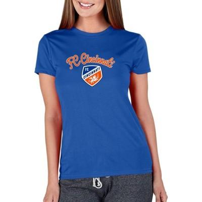 コンセプト スポーツ Concepts Sport レディース Tシャツ トップス FC Cincinnati Marathon Royal Short Sleeve Top
