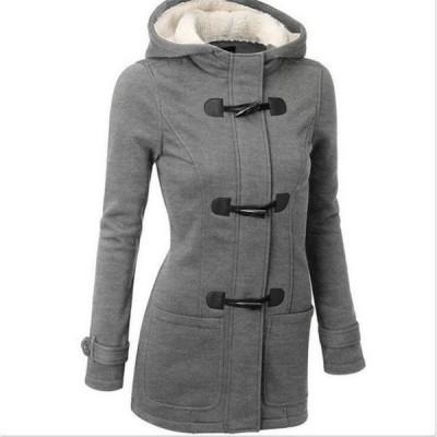 レディースコートボアジャケットアウターロング丈コート無地冬物長袖きれいめ暖かく防寒