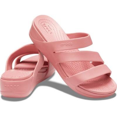 [クロックス公式] サンダル クロックス モントレー ストラッピー ウェッジ ウィメン レディース、ウィメンズ、女性用 ピンク 23cm,24cm,25cm Women's Crocs Monterey Strappy Wedge 50%OFF セール アウトレット