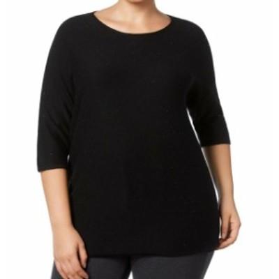 Anne Klein アンクライン ファッション トップス Anne Klein NEW Black Womens Size 0X Plus Sparkle Embellished Sweater