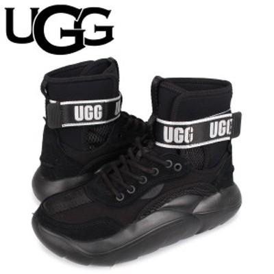 UGG アグ スニーカー クラウドハイ レディース 厚底 LA CLOUD HI ブラック 黒 1108914