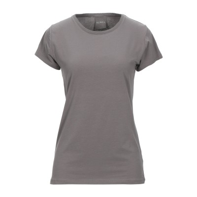 ALPHA MASSIMO REBECCHI T シャツ グレー 46 コットン 95% / ポリウレタン 5% T シャツ